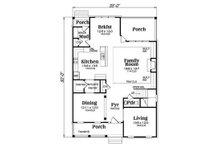 Southern Floor Plan - Main Floor Plan Plan #419-315