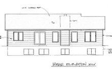 Ranch Exterior - Rear Elevation Plan #58-161