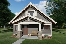 Dream House Plan - Bungalow Exterior - Front Elevation Plan #126-208