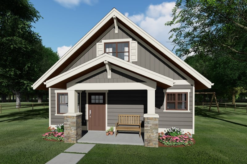 Bungalow Exterior - Front Elevation Plan #126-208