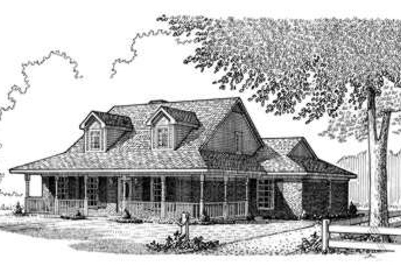Southern Exterior - Front Elevation Plan #410-192 - Houseplans.com