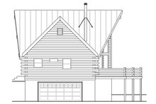Log Exterior - Other Elevation Plan #124-951