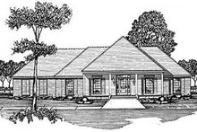 Home Plan Design - Traditional Exterior - Front Elevation Plan #36-187