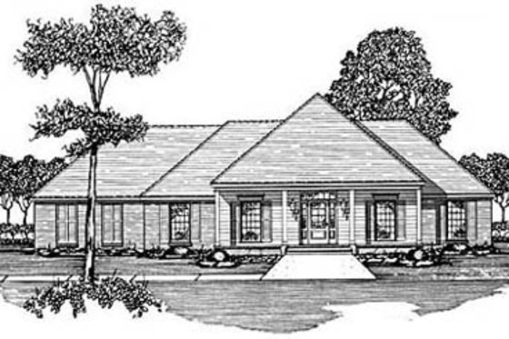 Traditional Exterior - Front Elevation Plan #36-187