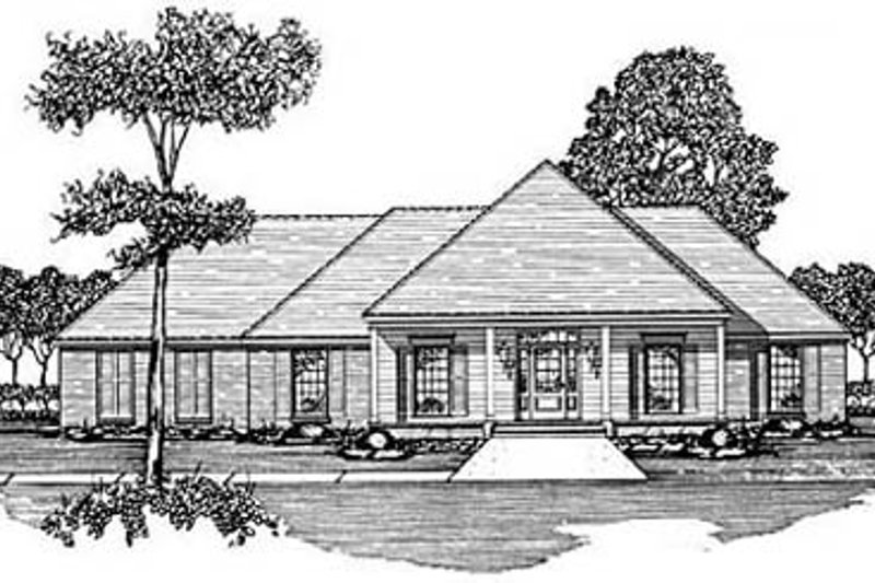 Architectural House Design - Traditional Exterior - Front Elevation Plan #36-187