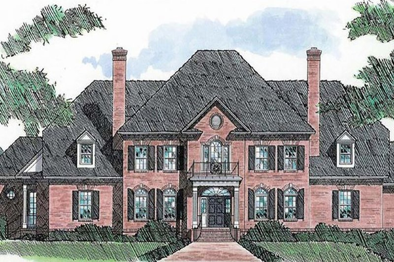 Dream House Plan - Classical Exterior - Front Elevation Plan #1054-88