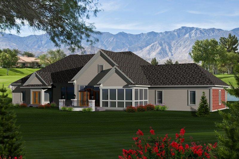 Traditional Exterior - Rear Elevation Plan #70-1146 - Houseplans.com