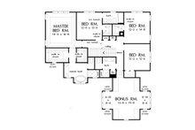 Country Floor Plan - Upper Floor Plan Plan #929-1034