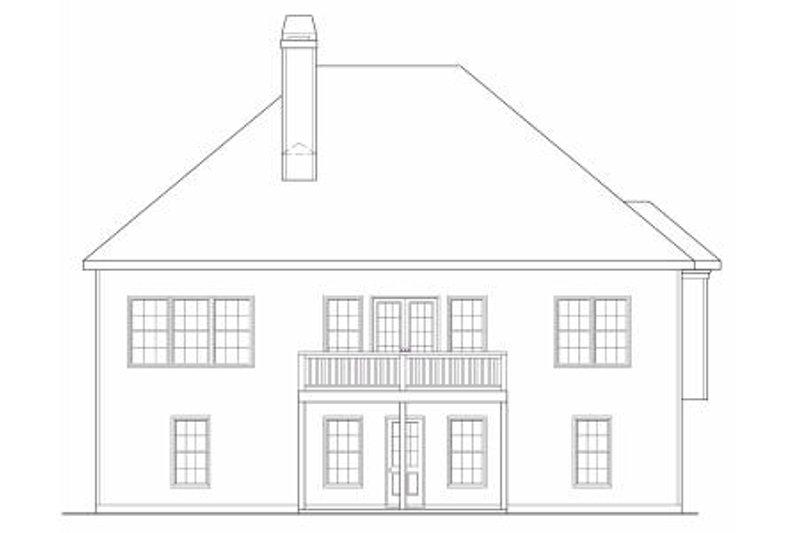 Traditional Exterior - Rear Elevation Plan #419-153 - Houseplans.com