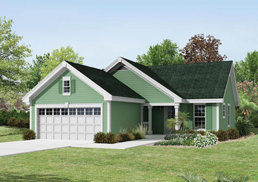 Ranch style house plan 3 beds 2 baths 1140 sq ft plan for Ranch style homes in maryland