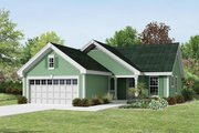 Ranch Style House Plan - 3 Beds 2 Baths 1140 Sq/Ft Plan #57-386 Exterior - Front Elevation