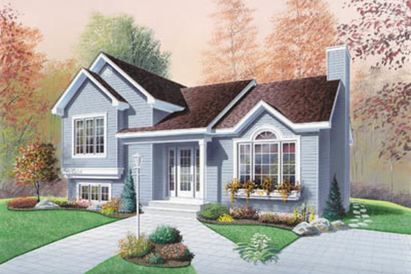 Exterior - Front Elevation Plan #23-138 - Houseplans.com