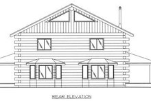 Architectural House Design - Log Exterior - Rear Elevation Plan #117-407
