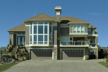 Home Plan - Prairie Exterior - Front Elevation Plan #48-402