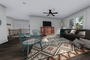 Ranch Style House Plan - 3 Beds 2 Baths 1709 Sq/Ft Plan #1060-41 Interior - Family Room