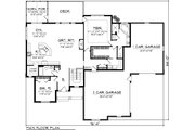 Traditional Style House Plan - 2 Beds 2 Baths 1935 Sq/Ft Plan #70-1084 Floor Plan - Main Floor Plan