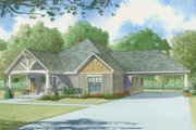 Craftsman Style House Plan - 2 Beds 2 Baths 1891 Sq/Ft Plan #923-4 Exterior - Front Elevation