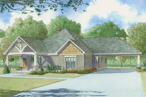 Craftsman Exterior - Front Elevation Plan #923-4