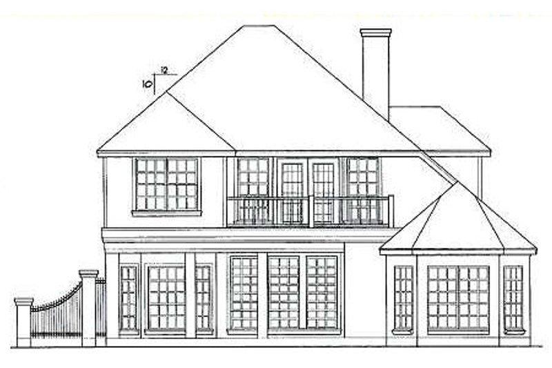 European Exterior - Rear Elevation Plan #40-256 - Houseplans.com