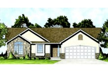 Home Plan - Traditional Exterior - Front Elevation Plan #58-208