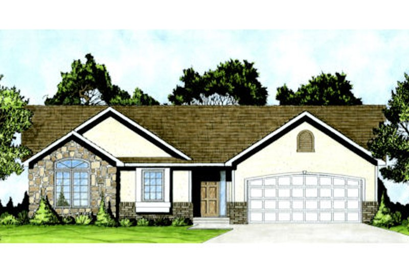 Traditional Exterior - Front Elevation Plan #58-208 - Houseplans.com