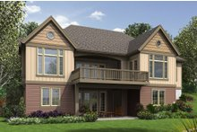 House Plan Design - Craftsman Exterior - Rear Elevation Plan #48-658
