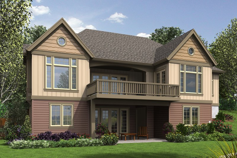 Craftsman Exterior - Rear Elevation Plan #48-658 - Houseplans.com