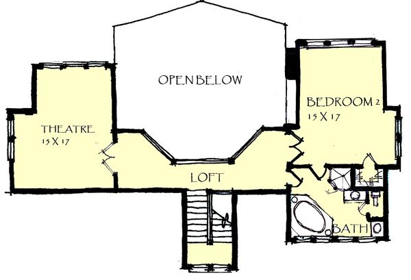 Craftsman Floor Plan - Upper Floor Plan Plan #921-24