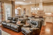 European Style House Plan - 3 Beds 2 Baths 1870 Sq/Ft Plan #430-107 Interior - Family Room