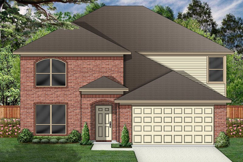 Traditional Exterior - Front Elevation Plan #84-400 - Houseplans.com