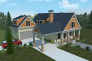Bungalow Style House Plan - 3 Beds 3.5 Baths 2345 Sq/Ft Plan #30-339 Exterior - Front Elevation