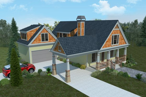 Bungalow Exterior - Front Elevation Plan #30-339