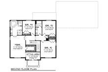European Floor Plan - Upper Floor Plan Plan #70-882