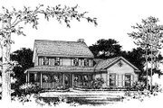 Country Style House Plan - 4 Beds 3.5 Baths 2440 Sq/Ft Plan #22-515 Exterior - Other Elevation