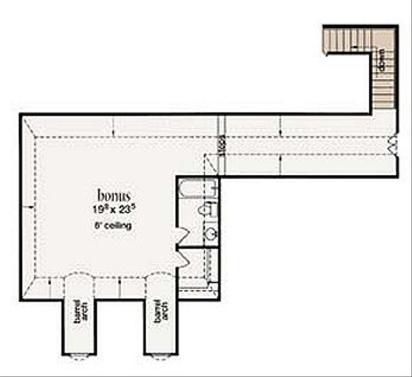 Mediterranean Floor Plan - Upper Floor Plan Plan #36-463