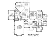 European Style House Plan - 5 Beds 6 Baths 7443 Sq/Ft Plan #458-7 Floor Plan - Main Floor