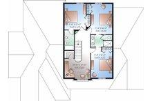 European Floor Plan - Upper Floor Plan Plan #23-829