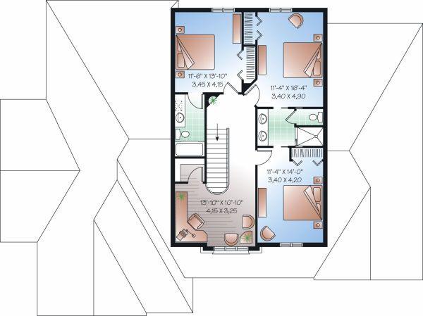 House Plan Design - European Floor Plan - Upper Floor Plan #23-829