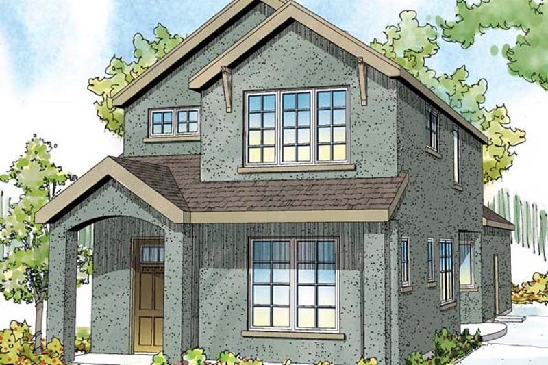 Home Plan - Traditional Exterior - Front Elevation Plan #124-877