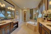 Mediterranean Style House Plan - 4 Beds 4 Baths 3012 Sq/Ft Plan #27-445 Interior - Master Bathroom