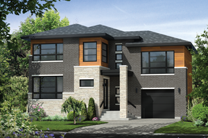 Contemporary Exterior - Front Elevation Plan #25-4421