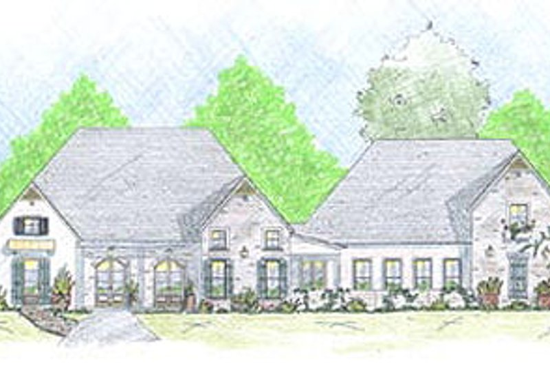 Home Plan - European Exterior - Front Elevation Plan #36-475