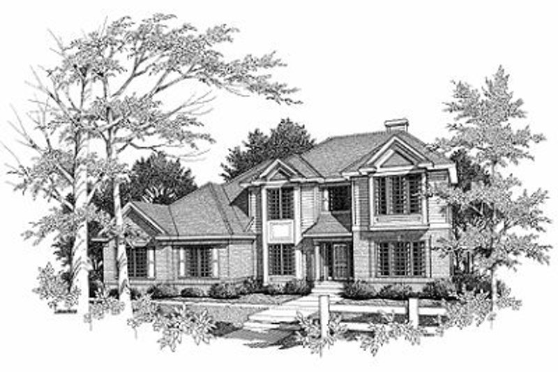 Traditional Exterior - Front Elevation Plan #70-392 - Houseplans.com