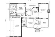 Colonial Style House Plan - 5 Beds 3.5 Baths 3978 Sq/Ft Plan #17-1182 Floor Plan - Main Floor Plan
