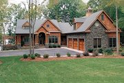 Craftsman Style House Plan - 4 Beds 4.5 Baths 4304 Sq/Ft Plan #453-22 Exterior - Front Elevation