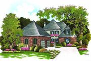 European Style House Plan - 4 Beds 3.5 Baths 2962 Sq/Ft Plan #45-211 Exterior - Front Elevation