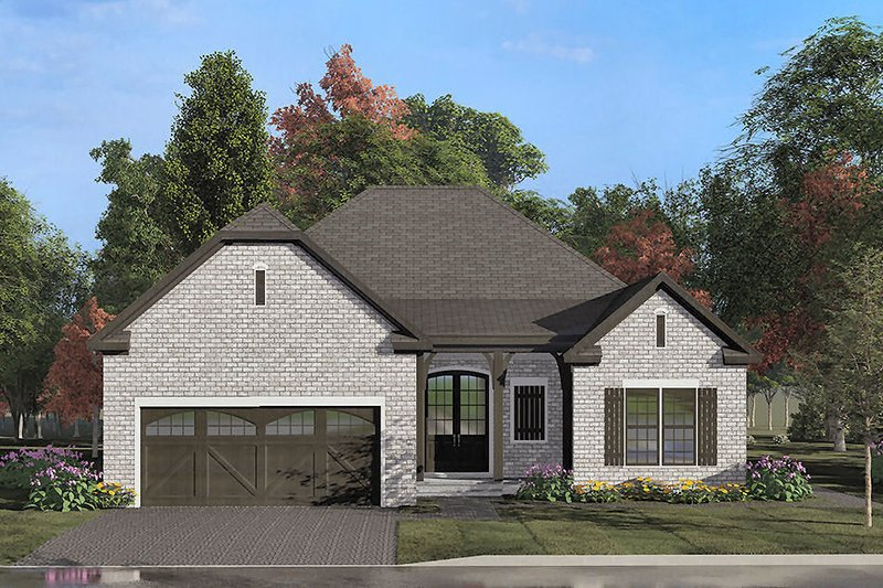 Dream House Plan - European Exterior - Front Elevation Plan #923-137