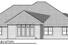 Dream House Plan - Traditional Exterior - Rear Elevation Plan #70-727