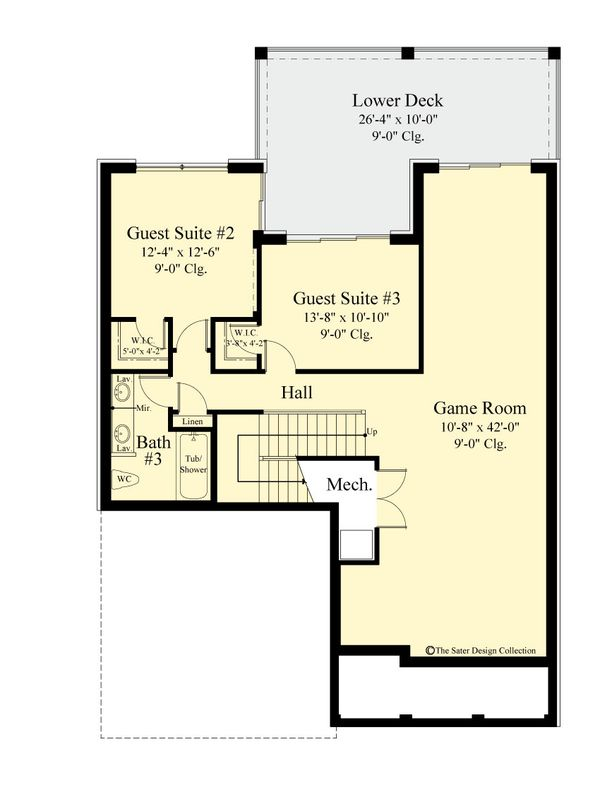 Country Floor Plan - Lower Floor Plan #930-514