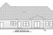 Traditional Style House Plan - 3 Beds 2.5 Baths 3704 Sq/Ft Plan #20-2344 Exterior - Rear Elevation